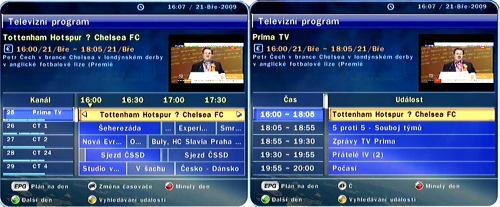 OptiboX CX PVR READY TV program