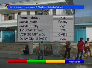TechniSat Digit nastaveni