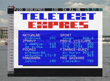 Interstar 8300 CI teletext