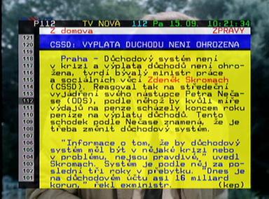 Interstar 8700 CRCI teletext