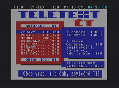 Kaon KTF-230 teletext