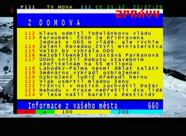 Smart MX 56 teletext