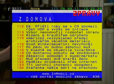 Homecast blackboxT teletext