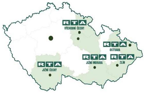 RTA - mapa studií v ČR
