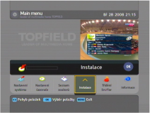 Topfield TF 7710HDPVR menu