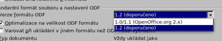 Verze ODF