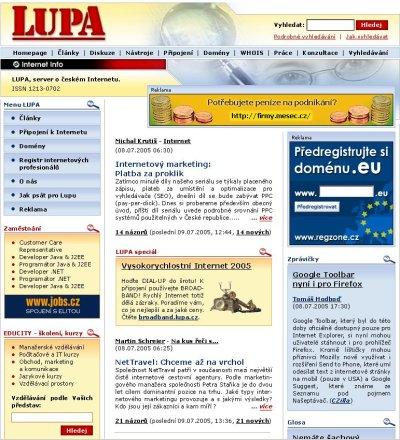 Vítězný design pro Lupa.cz