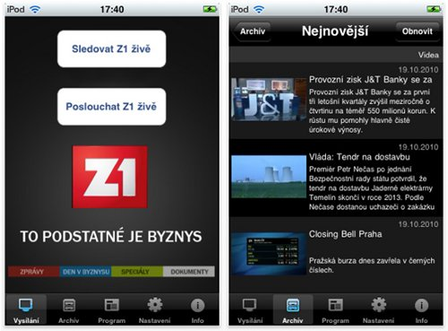 Z1TV live 2.0 pro iPhone