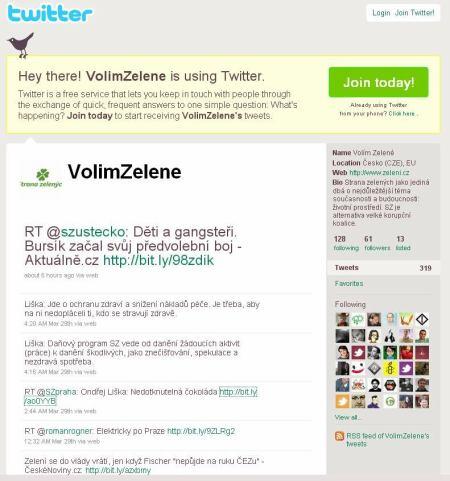 Zelení - Twitter