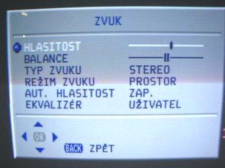Sencor STV 2112DVBT - zvuk