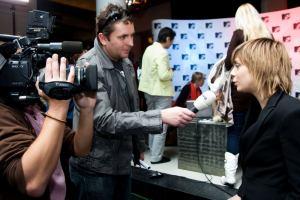 TK MTV Czech - Aneta Langerová s novináři