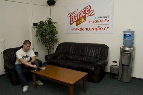 Dance radio přijímací místnost