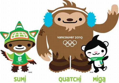Vancouver 2010 - maskoti