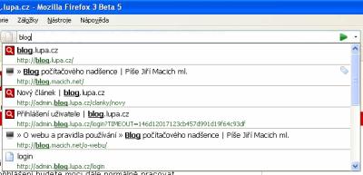 Firefox 3 - našeptávání