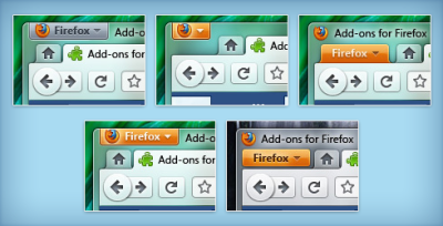 Firefox 4.0 - app button