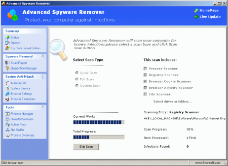 Advanced Spyware Remover