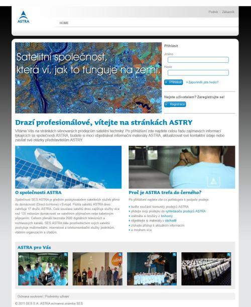 Astra - web pro prodejce