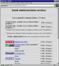 Nabidka sluzeb archivu clanku na VOL