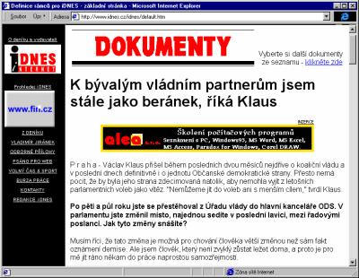 Straqnka s clankem na iDnes.cz