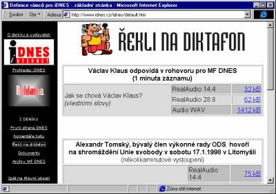 Rekli na mikrofon pro iDnes.cz