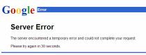 google server error @