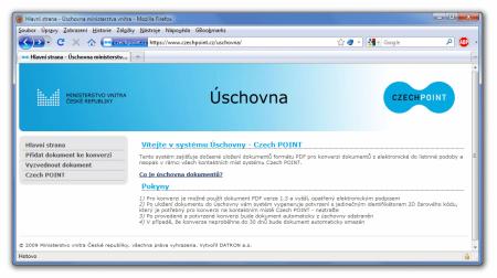uschovna CzechPointu