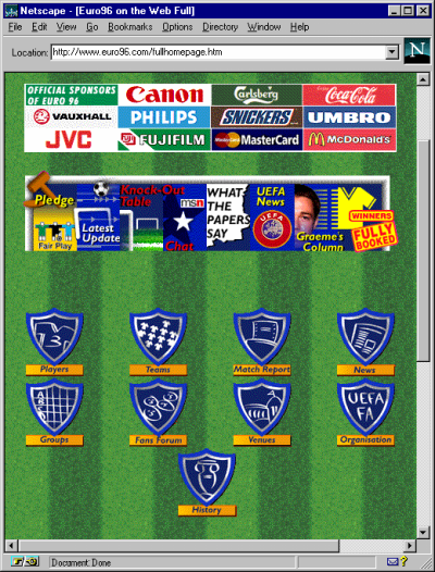 Euro96 home page