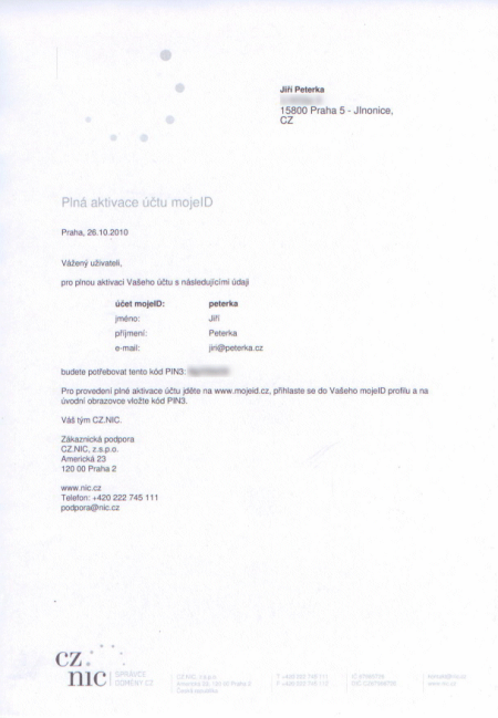 dopis s PINem3