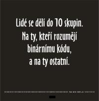 Binární tričko 10 skupin