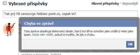 blokovaný obsah Facebook