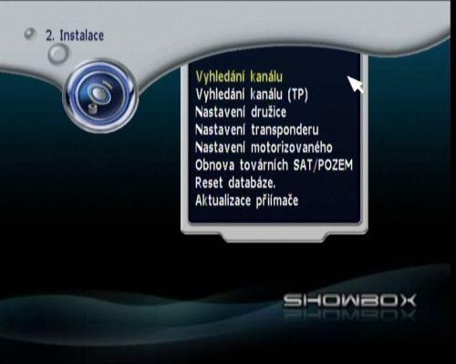 Showbox S-700 menu