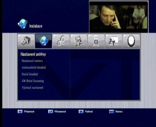 Vantage HD-7100 S menu