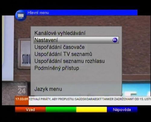 TechniSat DigitSat 1 menu