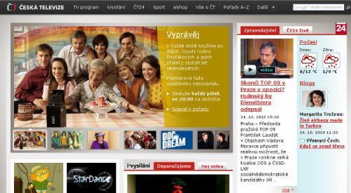 ČT - web www.ceskatelevize.cz
