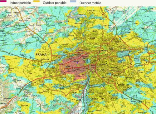 DVB-H Praha pokrytí