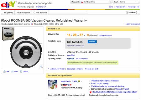 Nabídka na ebay
