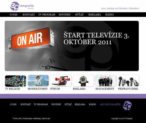 Televize Empatia - webové stránky