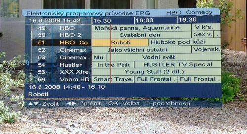 Handan CV-7000HD - EPG