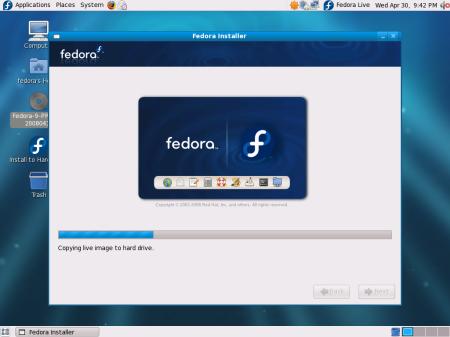 F9 live installer