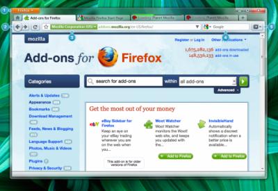 Firefox 4.0 - návrh GUI #2