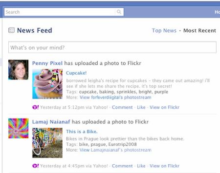 Flick - integrace do Facebooku