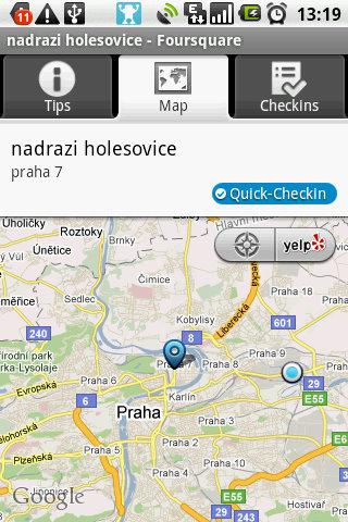 Foursquare detail místo