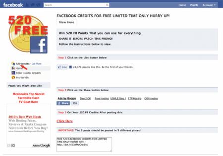 FB kredity zdarma