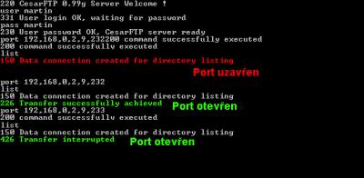 FTP skenovani