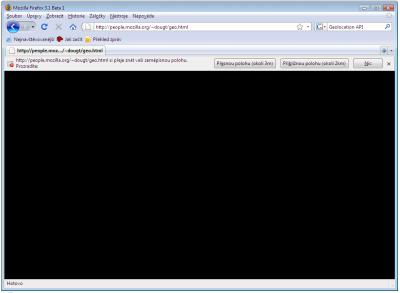 Firefox 3.1 Beta 1 - Geo API