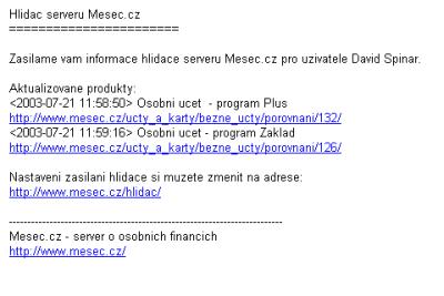 Hlídač - e-mail