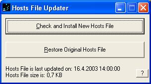 Hosts file updater