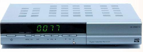 Homecast HS2000 CI přední panel