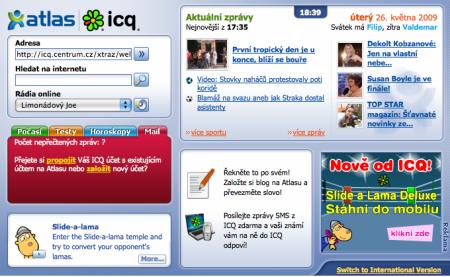 ICQ aktuální wellcome screen