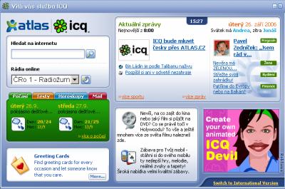 ICQ Atlas - uvodni stranka